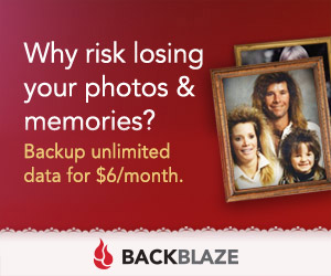Why risk losing your photos and memories?. Backup unlimited data for six dollars a month